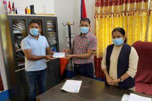 भरतपुर महानगरपालिकाद्धारा क्रिकेट रंगशाला निर्माणको लागि ५० लाख रुपैयाँ प्रदान