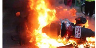 बुटवलमा महिलाको स्कुटर जलाउने चारजना पक्राउ   ( नाम सहित)