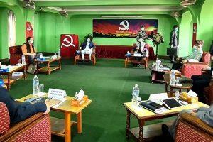 दुई अध्यक्षबीच विवाद चर्किँदै गएका बेला दाहाल–नेपाल समूहका विद्यार्थी भेला