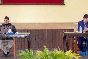 प्रचण्डलाई प्रधानमन्त्री ओलीको प्रश्न : अल्पमत र बहुमतमा जान तपाई तयार हो ?