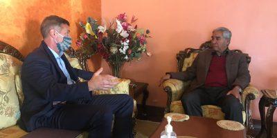 अमेरिकी राजदूत र्बेरीद्धारा नेपालका शीर्ष नेताहरू भेटघाट