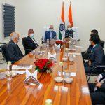 परराष्ट्रमन्त्री ज्ञवाली र भारतीय रक्षामन्त्री सिंहबीच भेटवार्ता