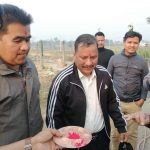 सहिद परिवारलाई भेटेर नवलपुरबाट काठमाडाैं हिडे विप्लव