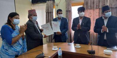 ललितपुर महानगरलाई २ सय सिलिण्डर अक्सिजन सहयोग गर्ने बिध ल्याबकाे घाेषणा