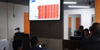सेयर बजारमा 'करेक्सन', कारोबार रकम साढे १६ अर्ब नाघ्यो