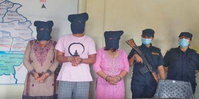 बलात्कार उजुरीको धम्की दिएर ५० लाख रुपैयाँ माग, ३ महिला पक्राउ