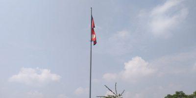 चितवनको सौराहामा नेपालकै अग्लो राष्ट्रिय झण्डा