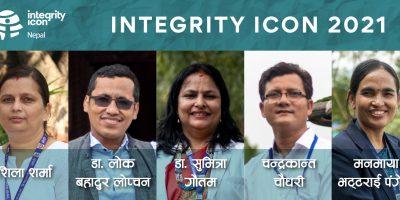 नवलपुरका सिडिओ पंगेनी सहित पाँच राष्ट्रसेवकईन्टीग्रिटी आईकन २०२१ बाट सम्मानित